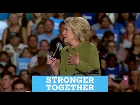 Clinton rips Trump speech as dark and divisive