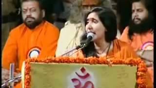 Indians not afraid of terrorism Sadhvi Ritambhara Dharma Raksha Manch Sankalpa Sabha