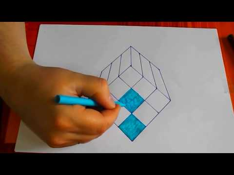 Drawing Optical Illusion / 3D Paper Illusion Drawing / 3D Illusion