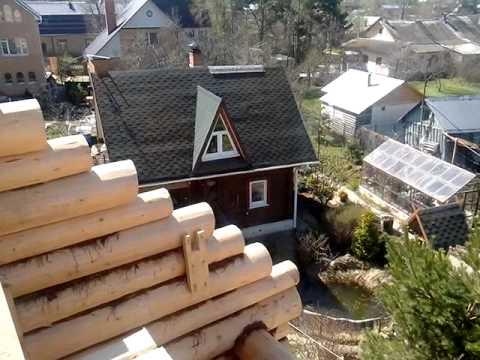 Строительство деревянного дома из бревна в Подмосковье... http://44srub.ru - Чухломская усадьба