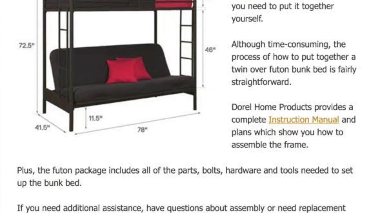 Twin Over Futon Bunk Bed Review Comparison Mattresses Embly More