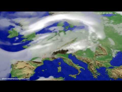 Cloud forecast Europe 2017-07-20