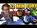 12min Battle Fury INSANLY FAST FARMING by Miracle- Anti-mage 9400 MMR [2games] Dota 2
