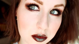 LOOK: BLUE BROWN LIPS & BROWN SMOKEY EYE Thumbnail