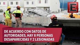 Derrumbe en Monterrey deja hasta el momento 3 muertos