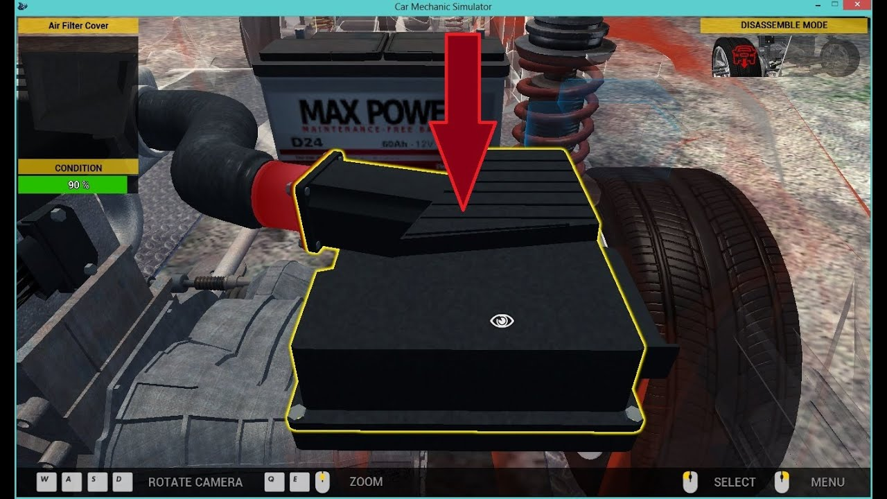 car mechanic simulator 2015 how to change the air filter fast youtube. Black Bedroom Furniture Sets. Home Design Ideas