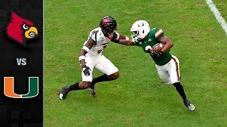 Louisville vs. Miami Football Highlights (2019-20)
