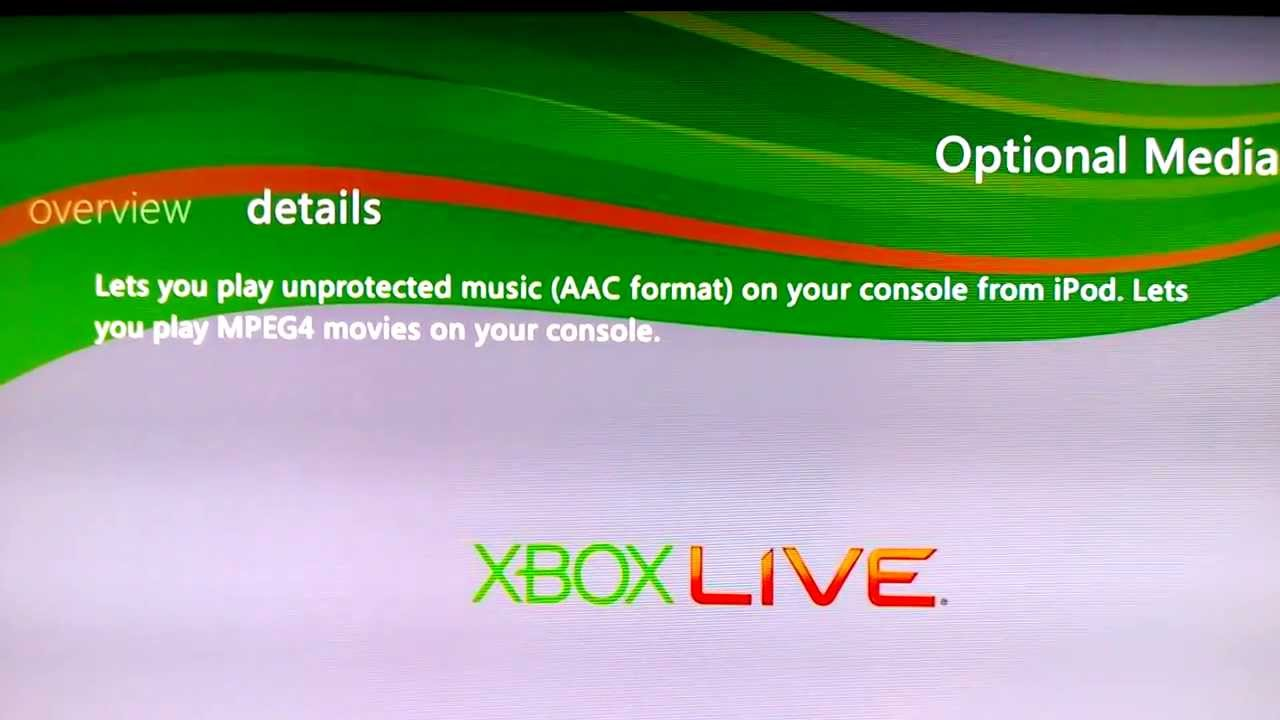 Xbox 360 optional media update download to pc.