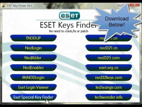 Eset Nod 32 license keyfinder v6.5