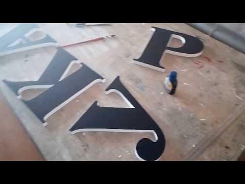 Как сделать буквы из пенопласта своими руками