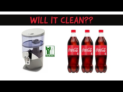the cola test - nikken water system, will it clean? -