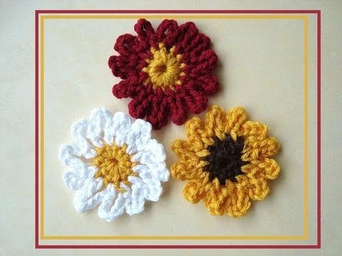 HOW TO CROCHET A DAISY, SUNFLOWER OR GENERIC FLOWER