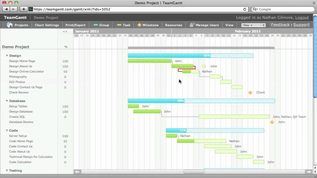 Gantt Chart Dependencies In Teamgantt Youtube