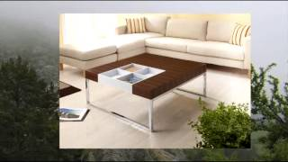 Enitial Lab Chester Coffee Table With Display Tray Walnut