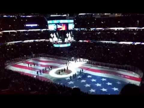 Jim Cornelison, National Anthem, Stanley Cup Finals 2015, Chicago Blackhawks vs Tampa Bay Lightning.