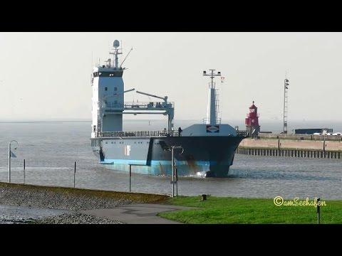 cargo seaship OCEANIC PBYH IMO 9624550 inbound Emden Frachtschiff Seeschiff
