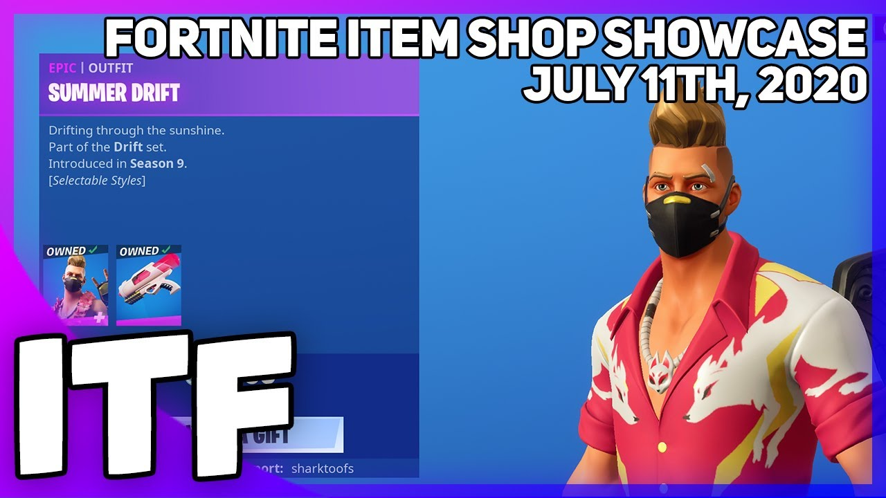 Fortnite Item Shop *RARE* SUMMER DRIFT IS BACK! [July 11th, 2020] (Fortnite Battle Royale)