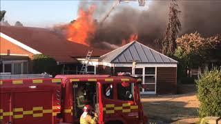 22.07.2018 Voldsom brand i bo sted, Horsens