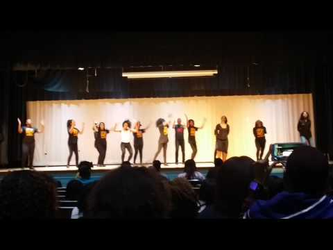 SWAT Team Lynnhaven Middle School step competition