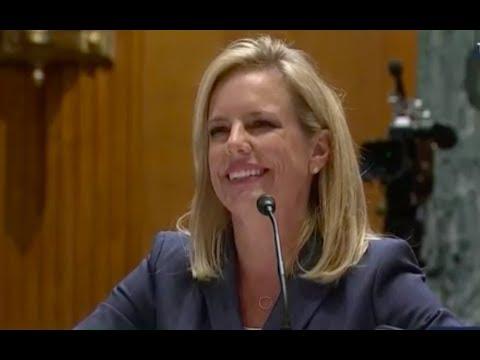 Homeland Security Secretary Kirstjen Nielsen Testifies At Senate Oversight Hearing 5/8/18