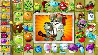 Every Plant Power Up vs Gargantuar Porter Zombie in Plants vs Zombies 2 Gameplay