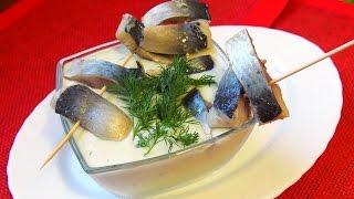 Рецепт селедки под картофельным соусом