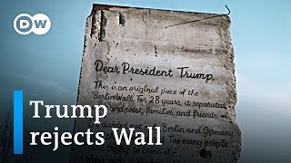 Berliners try so send Donald Trump a piece of the Berlin wall   DW News