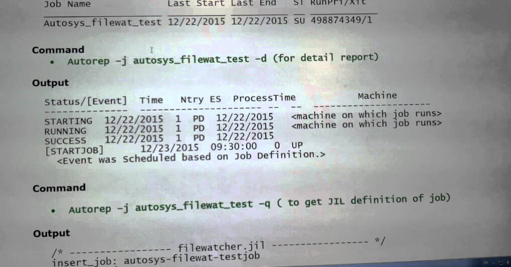 AUTOSYS GUIDE AUTOSYS REFERENCE CARD PDF