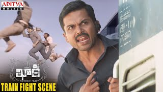 Khakee Movie Scenes | Khakee Train Fight Scene | Karthi, Rakul Preet | H.Vinoth