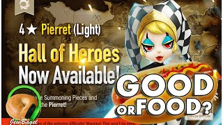 SUMMONERS WAR : Eva the Light Pierret Hall of Heroes Announced - Good or Food?