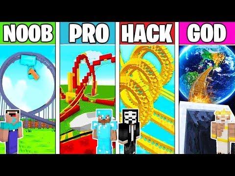 Minecraft NOOB vs PRO vs HACKER: ROLLER COASTER CHALLENGE in Minecraft / Animation