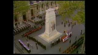 Remembrance Sunday at the Cenotaph 1991