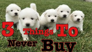 3 things you should never buy for a Great Pyrenees