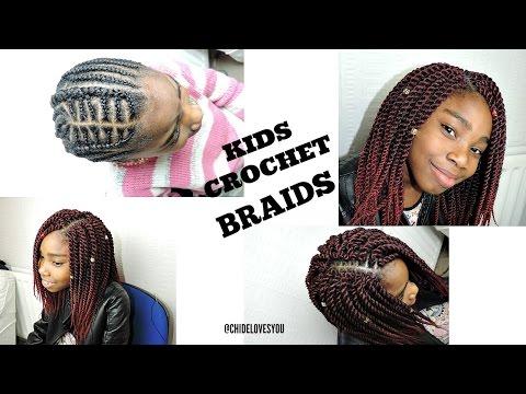 Crochet Braids For Kids Senegalese Twist Youtube
