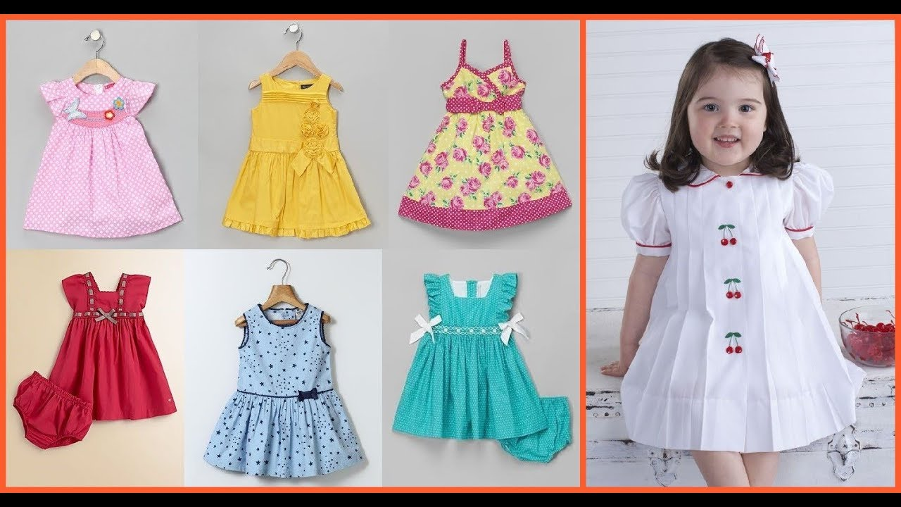 Casual baby girl cotton frock designsdecent simple frock for little girl