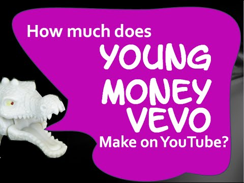 How much money does YoungMoneyVEVO make on YouTube 2014