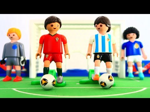 Playmobil Argentina & Portugal soccer player