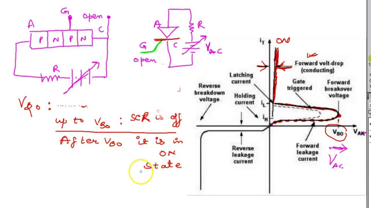 Scr Thyristor Test Turning On Light Bulb And Locking Circuit T Tester
