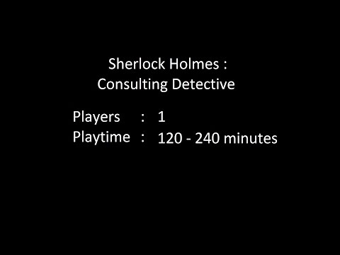 DiceTillDawn Solo Game Review #2 - Sherlock Holmes : Consulting Detective