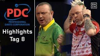 Peter Wright atmet auf, Darren Webster mit Zittersieg   Highlights   PDC Darts WM 2018   DAZN