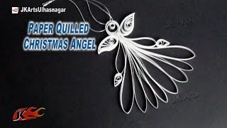 How to make Christmas Decoration |  DIY Paper Quilled Christmas Angel | JK Arts  810