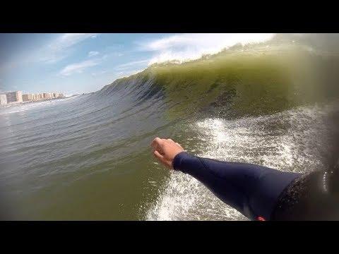 Surfing Hurricane Gert 8/16/17 (RAW FOOTY)