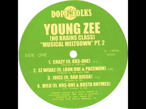 """YOUNG ZEE (NO BRAINS CLASS) """"CRAZY"""" Ft  KRS ONE"""