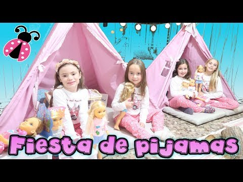 Fiesta de pijamas de NANCY con amigas 🎉😍 Dormimos en tipis