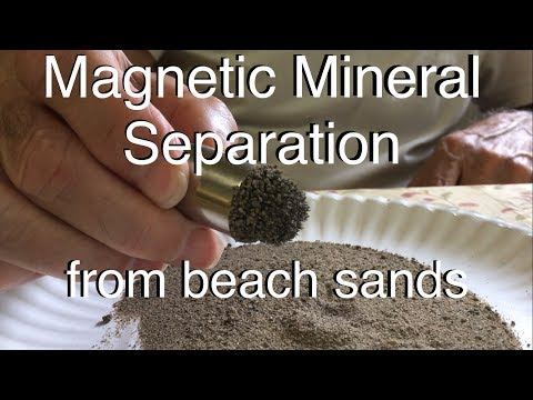 Magnetic Mineral Separation - from beach sands