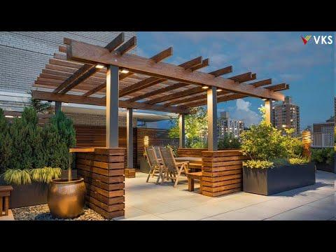 Modern Rooftop Terrace Design | Pergola Design Ideas | Wooden Rooftop Terrace Garden | Verandas