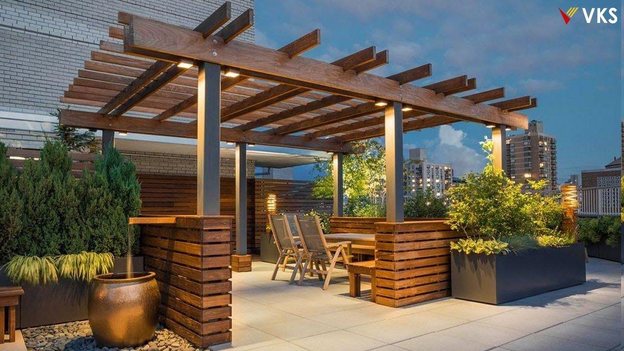 Modern Rooftop Terrace Design 7  Pergola Design Ideas Wooden Rooftop  Terrace Garden Verandas