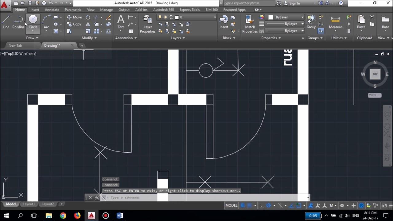 menggambar single line diagram instalasi penerangan [ 1280 x 720 Pixel ]