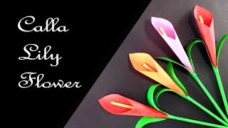 How to Make Calla Lily Paper Flower | Very Easy Origami Flower for Beginners !!!
