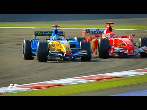Alonso and Schumacher's Epic Battle | 2006 Bahrain Grand Prix
